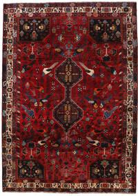Shiraz Tapis 206X290 D'orient Fait Main Rouge Foncé/Marron Foncé (Laine, Perse/Iran)