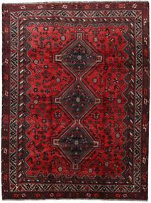 Shiraz Tapis 220X290 D'orient Fait Main Rouge Foncé/Marron Foncé (Laine, Perse/Iran)