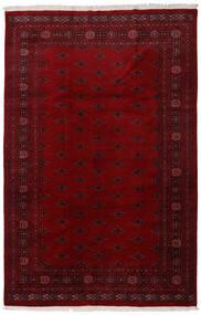 パキスタン ブハラ 3Ply 絨毯 196X301 オリエンタル 手織り 深紅色の/濃い茶色 (ウール, パキスタン)