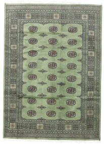 Pakistan Bokhara 2Ply Tæppe 167X233 Ægte Orientalsk Håndknyttet Mørkegrå/Pastel Grøn (Uld, Pakistan)