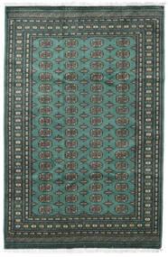 パキスタン ブハラ 2Ply 絨毯 185X282 オリエンタル 手織り 深緑色の/ターコイズブルー (ウール, パキスタン)