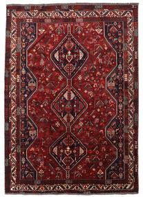 Shiraz Tapete 215X305 Oriental Feito A Mão Vermelho Escuro/Castanho Escuro (Lã, Pérsia/Irão)