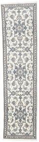 ナイン 絨毯 80X297 オリエンタル 手織り 廊下 カーペット ベージュ/薄い灰色 (ウール, ペルシャ/イラン)