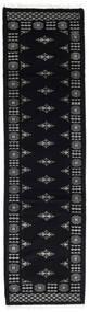 Pakistan Bokhara 3Ply Matto 77X278 Itämainen Käsinsolmittu Käytävämatto Musta/Tummanharmaa (Villa, Pakistan)