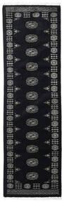Pakistan Bokhara 3Ply Tæppe 76X253 Ægte Orientalsk Håndknyttet Tæppeløber Mørkegrå (Uld, Pakistan)