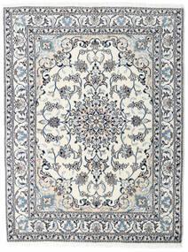 Nain Tæppe 151X200 Ægte Orientalsk Håndknyttet Beige/Lyseblå (Uld, Persien/Iran)