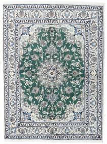 ナイン 絨毯 145X198 オリエンタル 手織り 薄い灰色/青 (ウール, ペルシャ/イラン)