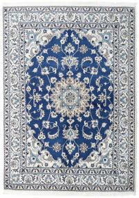 Naïn Tapis 150X200 D'orient Fait Main Bleu Foncé/Bleu Clair (Laine, Perse/Iran)