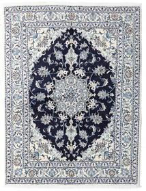 Nain Dywan 147X193 Orientalny Tkany Ręcznie Biały/Creme/Jasnoniebieski (Wełna, Persja/Iran)