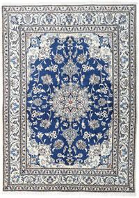 Nain Covor 148X205 Orientale Lucrat Manual Bej/Gri Închis/Gri Deschis (Lână, Persia/Iran)
