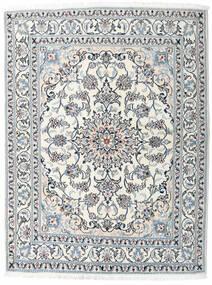 ナイン 絨毯 163X213 オリエンタル 手織り ベージュ/薄い灰色 (ウール, ペルシャ/イラン)