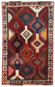 Kaszkaj Dywan 113X183 Orientalny Tkany Ręcznie Ciemnoczerwony/Ciemnoszary (Wełna, Persja/Iran)