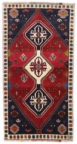 Kaszkaj Dywan 98X185 Orientalny Tkany Ręcznie Ciemnoczerwony/Czarny (Wełna, Persja/Iran)
