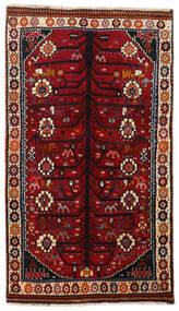 Ghashghaï Tapis 107X188 D'orient Fait Main Rouge Foncé/Marron Foncé (Laine, Perse/Iran)