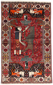 Qashqai Rug 107X174 Authentic Oriental Handknotted Dark Red/Black (Wool, Persia/Iran)