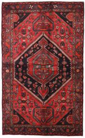 Hamadan Covor 138X225 Orientale Lucrat Manual Roșu-Închis/Negru (Lână, Persia/Iran)