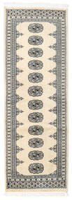 Pakistan Bokhara 2Ply Rug 65X183 Authentic  Oriental Handknotted Hallway Runner  Beige/Light Grey (Wool, Pakistan)