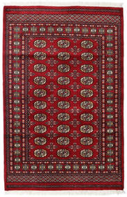 Paquistão Bucara 2Ply Tapete 125X190 Oriental Feito A Mão Vermelho Escuro/Vermelho (Lã, Paquistão)
