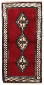 Ghashghaï Tapis 78X156 D'orient Fait Main Marron Foncé/Rouge Foncé (Laine, Perse/Iran)