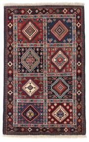 Yalameh Tapis 84X132 D'orient Fait Main Marron Foncé/Rouge Foncé (Laine, Perse/Iran)