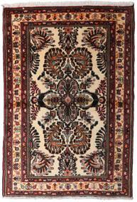 Hamadan Tappeto 102X152 Orientale Fatto A Mano Marrone Scuro (Lana, Persia/Iran)