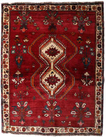 Qashqai Rug 135X173 Authentic Oriental Handknotted Dark Red/Crimson Red (Wool, Persia/Iran)