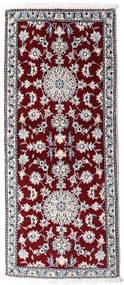 Nain Teppe 83X190 Ekte Orientalsk Håndknyttet Teppeløpere Mørk Rød/Beige (Ull, Persia/Iran)