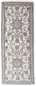 Nain Dywan 80X198 Orientalny Tkany Ręcznie Chodnik Beżowy/Jasnoszary (Wełna, Persja/Iran)