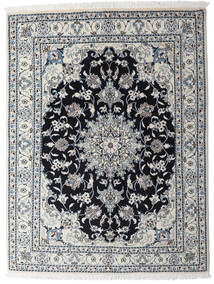 Nain Covor 150X195 Orientale Lucrat Manual Gri Deschis/Gri Închis (Lână, Persia/Iran)