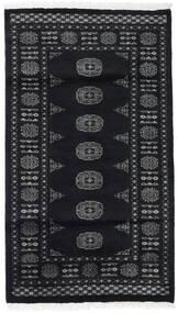 Pakistański Bucharski 2Ply Dywan 91X159 Orientalny Tkany Ręcznie Czarny/Ciemnoszary (Wełna, Pakistan)
