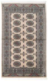 Paquistão Bucara 2Ply Tapete 92X152 Oriental Feito A Mão Cinza Escuro/Cinzento Claro (Lã, Paquistão)