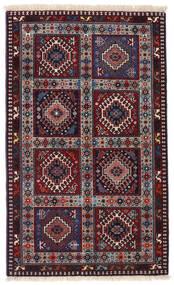 ヤラメー 絨毯 80X135 オリエンタル 手織り 濃い茶色/深紅色の (ウール, ペルシャ/イラン)