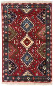 Yalameh Tapete 84X133 Oriental Feito A Mão Vermelho Escuro/Castanho Escuro (Lã, Pérsia/Irão)