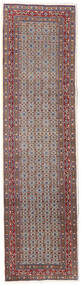 Moud Χαλι 80X292 Ανατολής Χειροποιητο Χαλι Διαδρομοσ Σκούρο Κόκκινο/Ανοιχτό Γκρι (Μάλλινα/Μεταξωτά, Περσικά/Ιρανικά)