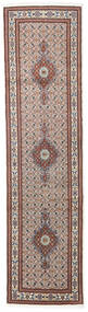 Moud Vloerkleed 77X290 Echt Oosters Handgeknoopt Tapijtloper Lichtgrijs/Beige (Wol/Zijde, Perzië/Iran)