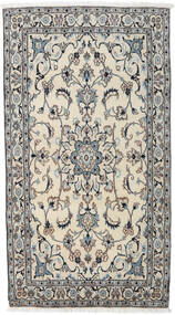 Nain Dywan 115X212 Orientalny Tkany Ręcznie Ciemnoszary/Ciemnobeżowy/Jasnoszary (Wełna, Persja/Iran)