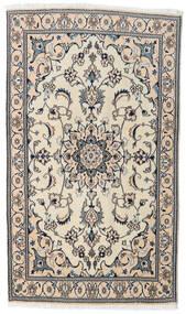 Nain Tæppe 118X204 Ægte Orientalsk Håndknyttet Beige/Lysegrå (Uld, Persien/Iran)