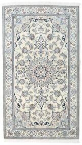 Nain Tapete 121X212 Oriental Feito A Mão Bege/Cinzento Claro/Azul Claro (Lã, Pérsia/Irão)