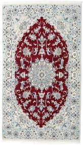 Nain Tapete 115X200 Oriental Feito A Mão Cinzento Claro/Vermelho Escuro (Lã, Pérsia/Irão)