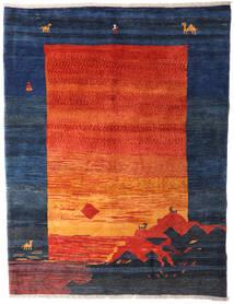 Gabbeh Rustic Tappeto 210X275 Moderno Fatto A Mano Blu Scuro/Arancione (Lana, Persia/Iran)