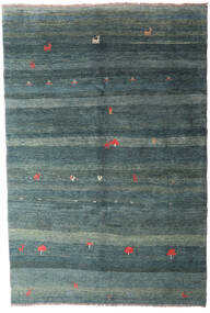 Gabbeh Rustic Rug 210X312 Authentic  Modern Handknotted Blue/Light Grey (Wool, Persia/Iran)