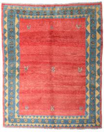 Gabbeh Rustic Tapete 179X227 Moderno Feito A Mão Vermelho/Cinzento Claro (Lã, Pérsia/Irão)