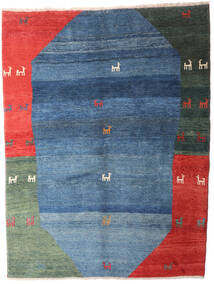 Gabbeh Rustic Covor 201X265 Modern Lucrat Manual Albastru/Albastru Închis (Lână, Persia/Iran)