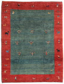 Gabbeh Rustic Rug 220X290 Authentic  Modern Handknotted Dark Turquoise  /Rust Red (Wool, Persia/Iran)