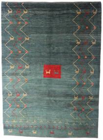 Gabbeh Rustic Covor 224X306 Modern Lucrat Manual Gri Închis/Albastru Turcoaz (Lână, Persia/Iran)
