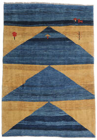 Gabbeh Rustic Szőnyeg 193X282 Modern Csomózású Sötétkék/Kék/Világosbarna (Gyapjú, Perzsia/Irán)