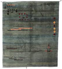 Gabbeh Rustic Tapete 210X238 Moderno Feito A Mão Verde Escuro/Verde Escuro (Lã, Pérsia/Irão)