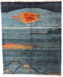 Gabbeh Rustic Szőnyeg 221X269 Modern Csomózású Sötétkék/Kék (Gyapjú, Perzsia/Irán)