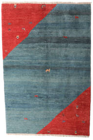 Gabbeh Rustic Rug 203X305 Authentic  Modern Handknotted Blue/Rust Red (Wool, Persia/Iran)