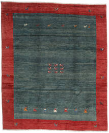 Gabbeh Rustic Covor 276X327 Modern Lucrat Manual Roșu-Închis/Întuneric Turquoise/Verde Închis Mare (Lână, Persia/Iran)